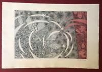 Peter Pommerer, Ohne Titel, Farbradierung, 2002, handsigniert und datiert