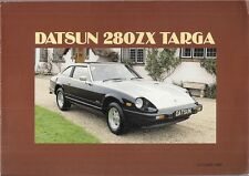 Datsun Nissan 280 ZX 2+2 Targa 1982-84 UK Market Sales Brochure