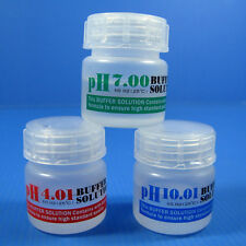 PH 4.01/7.0/10.01 Buffer Solution Set 20ml- Calibration Fluids Aquarium Meter