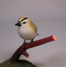Golden-crowned Kinglet Original Bird Carving/Birdhug