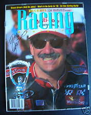 1996 Beckett Racing Monthly Signed by Dale Jarret
