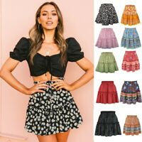 Women A-Line Short Skirts Gothic Punk Witchcraft Moon Magic Spell Symbols Pleated Mini Skirt