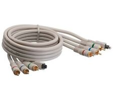 AYA 6Ft (6 Feet) Component Video Toslink Coaxial Cable YPbPr Triple RCA Male