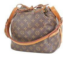 Authentic LOUIS VUITTON Petit Noe Monogram Shoulder Tote Bag Purse #35459