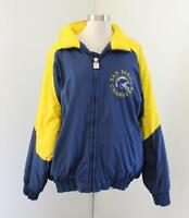Vtg San Diego Chargers Puffer Windbreaker Jacket Size L Blue Yellow