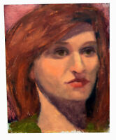 """10"""" Oil Painting Canvas Young Woman Portrait Red Hair Art Shannon Brickey Decor"""