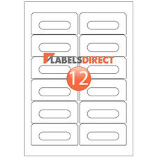 More details for 300 premium white audio cassette labels matt a4 sticky adhesive inkjet - laser