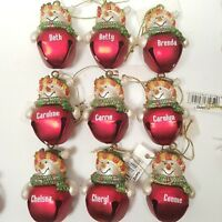 Ganz Girls Womens Personalized Christmas Ornament Jingle Bell Snowman Choose One