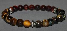"""Bracelet Protection """"3 Pierres"""" Oeil de Tigre/Faucon/Taureau"""