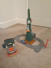 Thomas Take Along N Play Cranky Crane Fold Up & Sodor Barrel Depot Play Sets