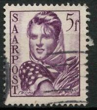 Saar 1948 SG#242, 5f Womans Head Definitive Used #A81188