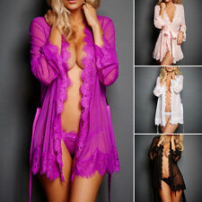 hot donna lingerie sexy vestaglia babydoll biancheria da notte camicia pigiama