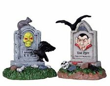Lemax Spooky Town - Tombstone Pair - NEW