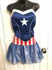 Adult American Dream Marvel Captain America Costume Medium Women's Cosplay