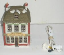 Vintage 1986 Dept 56 Fezziwig's Warehouse Dickens' Christmas Village House