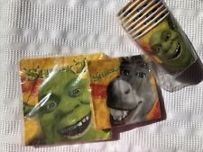 Shrek 2 Party Supplies Napkins and Cups