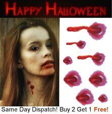 Halloween Zombie Vampiro Bite cicatrices tatuajes Falso Sangre Cicatriz Kit de maquillaje de la herida