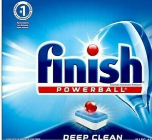 Finish Powerball Deep Clean Dishwasher Detergent Tabs - Bulk Lot of 420! NEW!