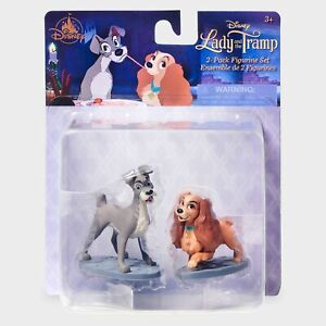 Walt Disney LADY AND THE TRAMP 2 Piece Party Cake Toppers Figurine Play Set NEW!