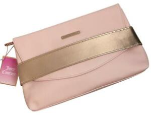 JUICY COUTURE Pink & Rose Gold Clutch Purse Handbag - Brand New