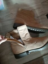 New ☆ Size 13 LEATHER FAUX FUR MENS BOOTS