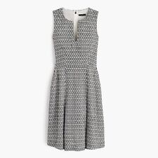 NWT Women's J. Crew Sleeveless A-Line Eyelet Dress Black and White Sz 12T