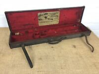 Antique WW Greener London Shotgun Rifle Case Old Canvas Covered Leather Trimmed