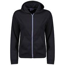 Boys American Fleece Zip Plain Zipper Hoody Jacket Sweatshirt Hooded Hood