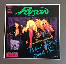 "POISON - Nothin' But A Good Time 7"" Vinyl Single Record VG+/EX 1987 Japan Press"