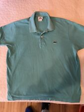 Lacoste Men's Polo Shirt Solid Turquoise Short Sleeve Cotton 6 US XL Extra Large