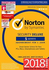 Norton Security Deluxe 2018 / 2019  5 Geräte / PC 1 Jahr - Download/Lizenz