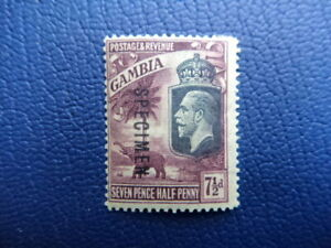 Gambia 1922, SG118s,  'Specimen' 4d Mint (Imperfect, so rare). wm Multi Crown CA