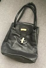557a0cf80651 Barneys New York Black Leather Bamboo Handbag Purse