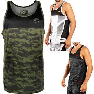 Venum Herren Tank Top Trooper Weiß Camo Schwarz S-3XL T-Shirt MMA Freizeit