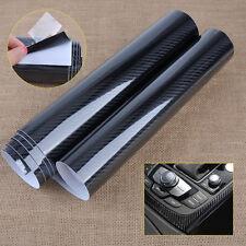 5D Carbon Fiber Texture Car Auto Black Glossy Wrap Sticker Film Decal Roll Decor