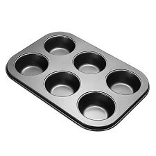6 Cup Deep Mini Muffin Fairy Cake Pan Tin Baking Mould Tray Tin Aluminum Coated
