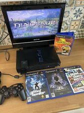 Playstation 2 (PS2) Console with 4 Games, Official Controller And Memory Card