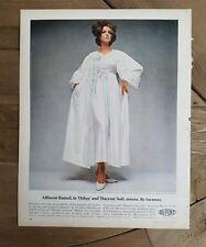 1965 Dupont Orlon Dacron women's white gown robe peignoir lingerie Saramae Ad