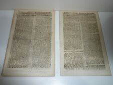 2 COBBETTS LONDON WEEKLY POLITICAL REGISTER DATED DECEMBER 14 & 21  YEAR 1805