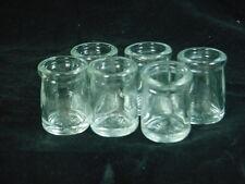 6 NEW ANCHOR HOCKING GLASS DAIRY CREAMER BOTTLES VINTAGE