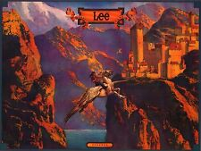 "VINTAGE AD POSTER~Lee Jeans 1982 Pegasus Flying to Castle Fantasy 15x20"" Print~"