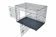 QPC-100M Folding Dog Cat Kennel Crate Cage w/ABS Tray 24""