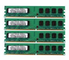 Intel 8GB 4pcs 2GB 2Rx8 PC2-6400U DDR2 800Mhz 240pin DIMM RAM CPU Memory NON-ECC