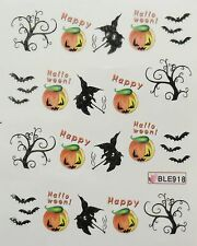 Accessoire ongles : nail art- Stickers Halloween : citrouille, sorcière , arbre