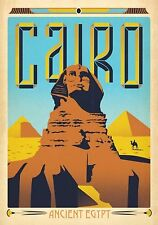 MAGNET  TRAVEL Photo Magnet  CAIRO Egypt Sphinx Pyramids