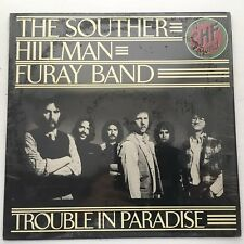 SOUTHER,HILLMAN,FURAY BAND TROUBLE IN PARADISE RARE NM VINYL ORIGINAL LINER