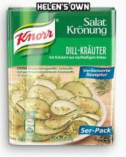 Aderezo para ensalada de hierbas Mezcla Knorr Eneldo de Alemania 5 X 9g Sobres Free UK POST!