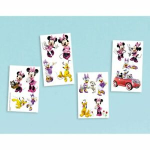 Minnie Mouse Clubhouse Disney Cute Kids Birthday Party Favor Temporary Tattoos