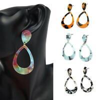Frauen Acryl geometrische baumeln lange Drop Anweisung Ohrringe Schmuck Heiß