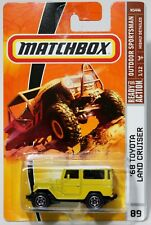 '68 TOYOTA LAND CRUISER * 2009 MATCHBOX * YELLOW w/ WHITE TOP 1968 FJ40